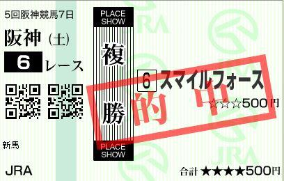 阪神6R複②