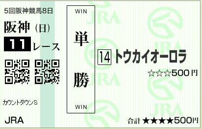 阪神11Rはずれ