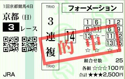 京都3R3連複