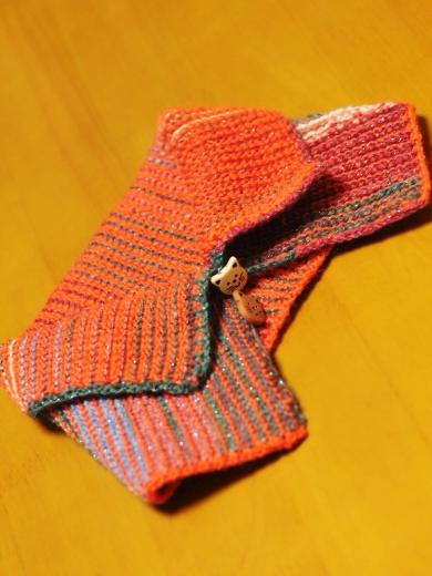 梅村マルティナOpal毛糸で編んだネックォーマー