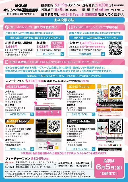 渡辺麻友+総選挙2015_ura