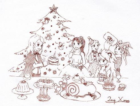 2014クリスマス絵 スキャン