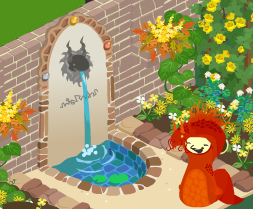 噴水のある壁