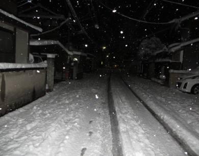 2015_01 01_下鴨の家の前・雪道