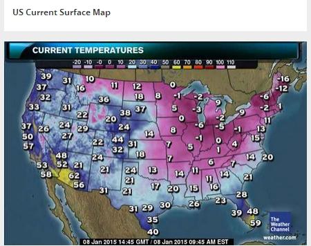 2015アメリカ寒波