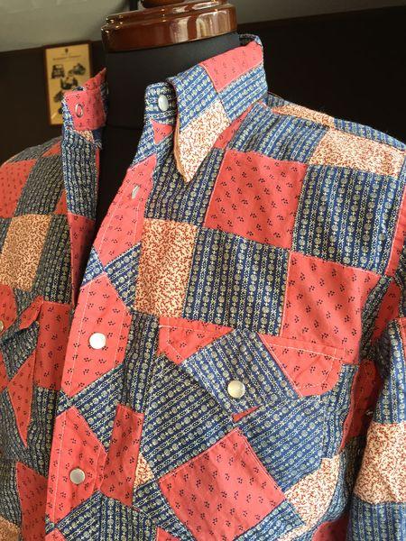 MFS-2055 Pパッチワークモトシャツ