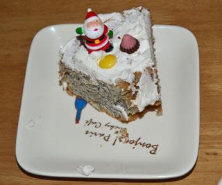 子供たちの作ったクリスマスケーキ