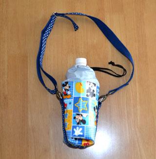 ハンドメイドのペットボトル水筒バック