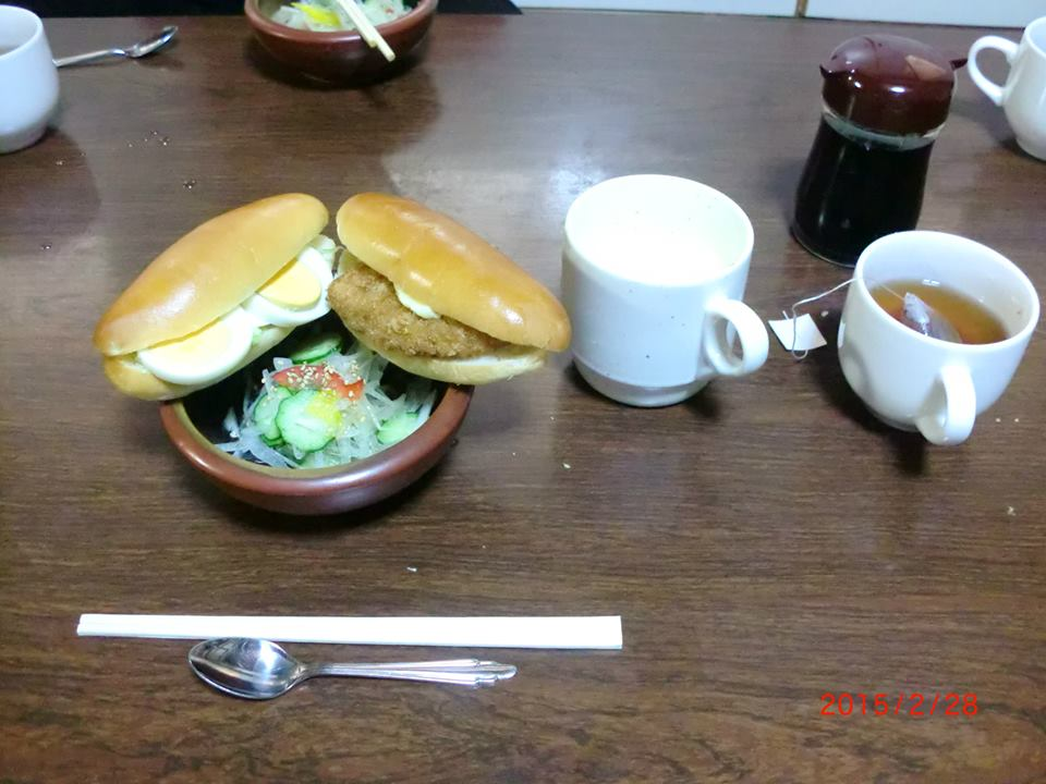 春最終日朝食