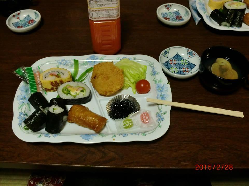 春最終日昼食
