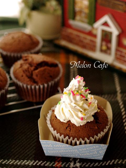 チョコレートのクリスマスカップケーキ02