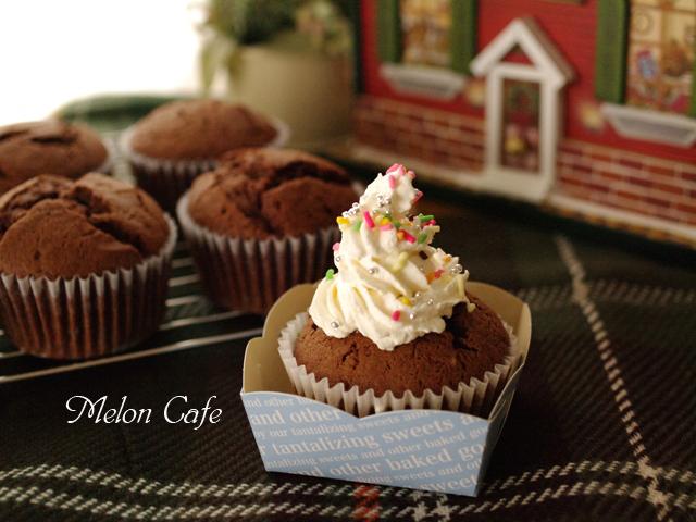チョコレートのクリスマスカップケーキ01
