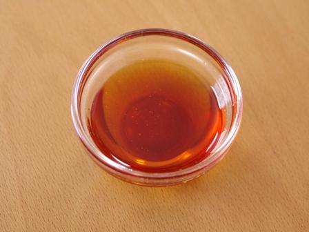 りんごのカラメルシロップでホットケーキ01