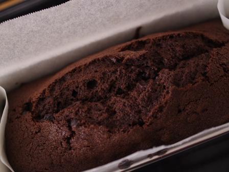 ダブルチョコレートのパウンドケーキ01