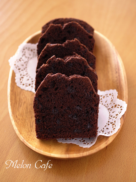 ダブルチョコレートのパウンドケーキ
