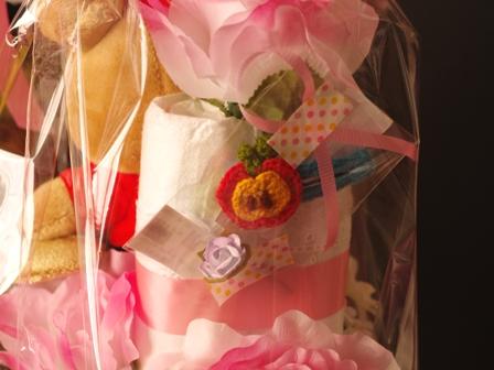 リラックマのオムツケーキ誕生おめでとう02