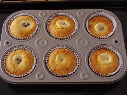 簡単はちみつバナナのカップケーキ03