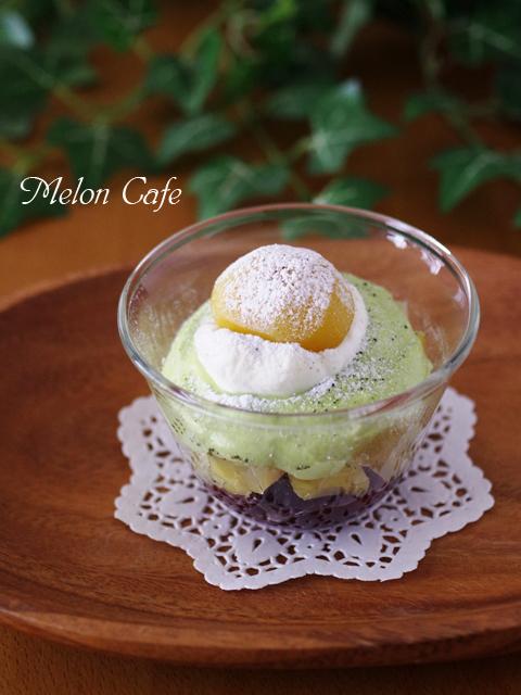 キリクリームチーズポーションで作る抹茶と栗のグラスティラミス
