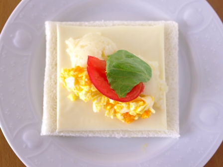 サンドシナイッチ卵とポテトのサラダ02