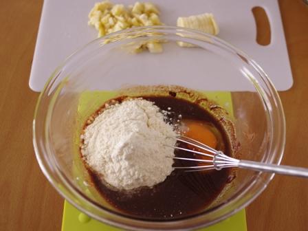 ホットケーキミックスでつくるチョコバナナパウンドのケーキ02