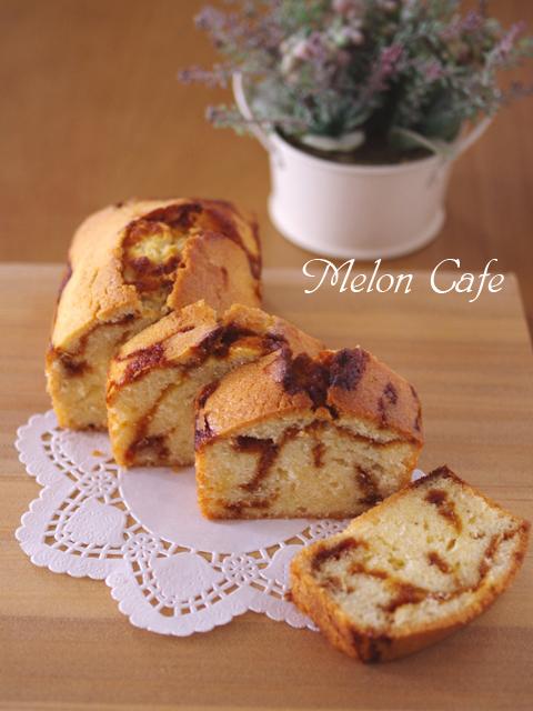 カスタードプリンパウンドケーキ