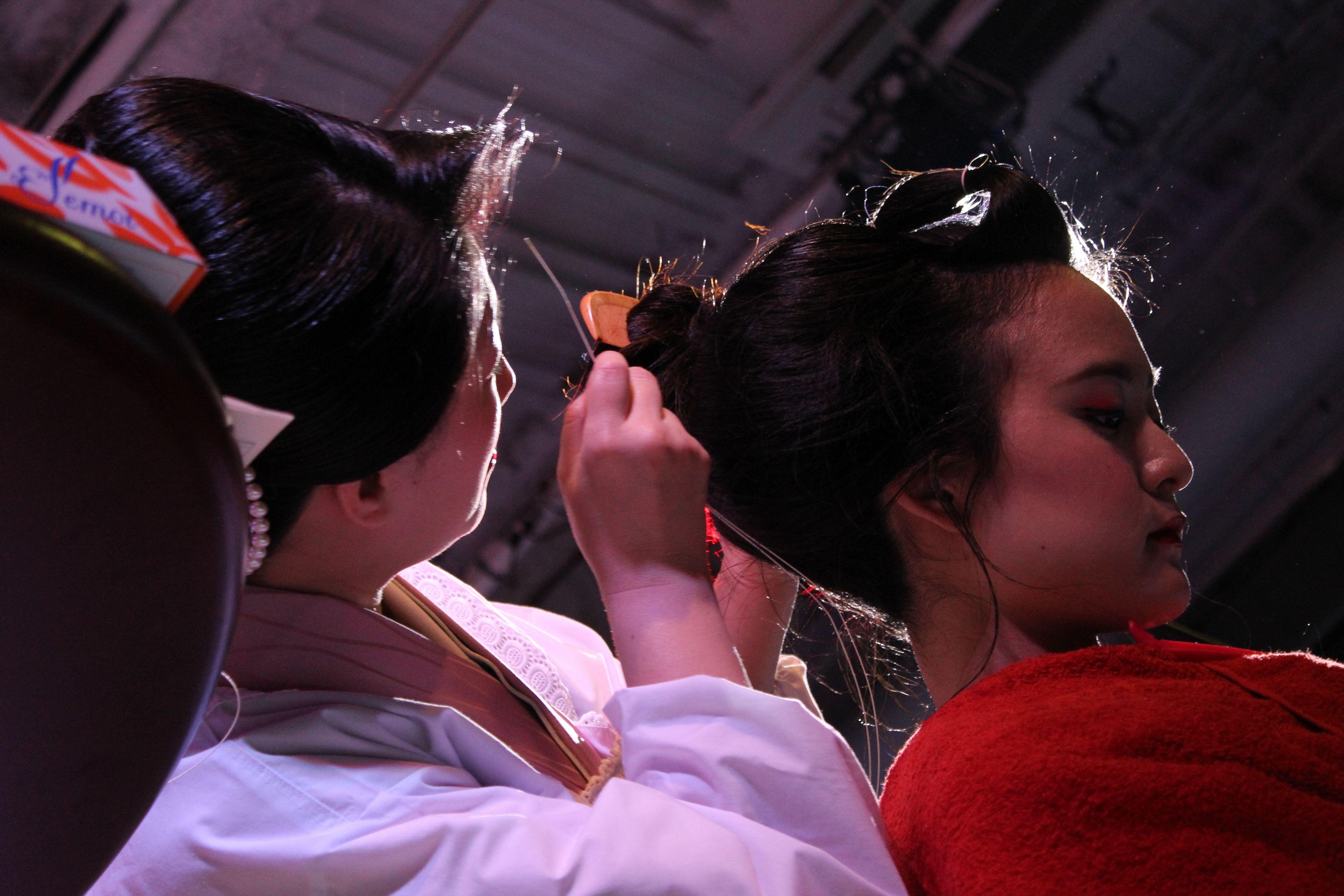 エロチカジャポネスクVol.11@表参道cafeATLANTIS~日本髪結髪実演 優井染乃さん×山本晴歌さん