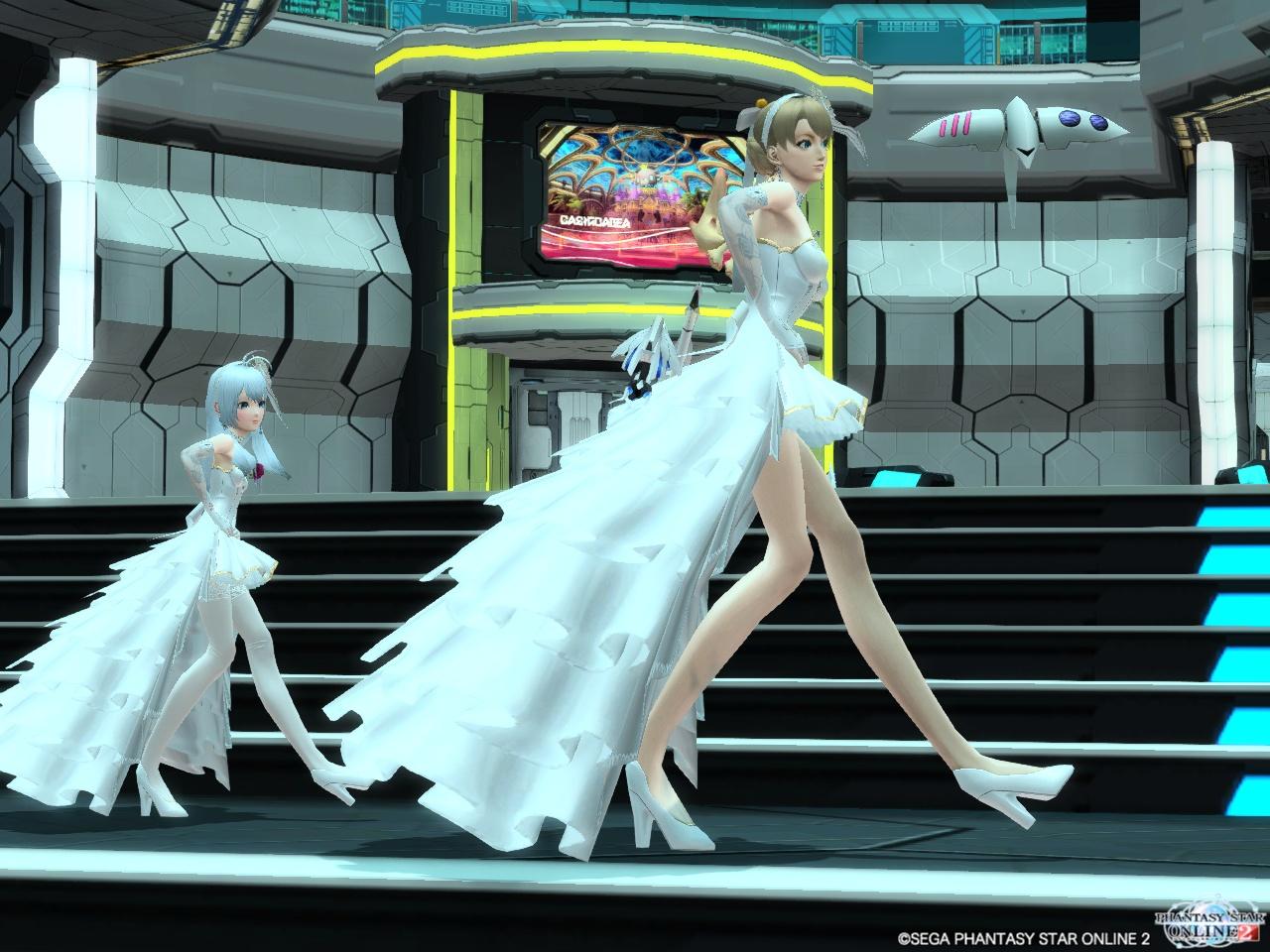 レアちゃんとマリアージュドレスを着て撮影