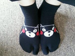 くまモン靴下