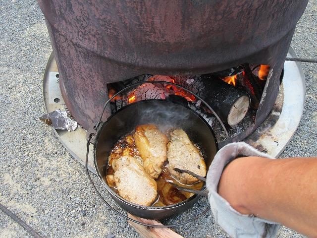 お肉が焼けていました 27.6.21