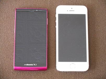 iphone5SとSH-01E