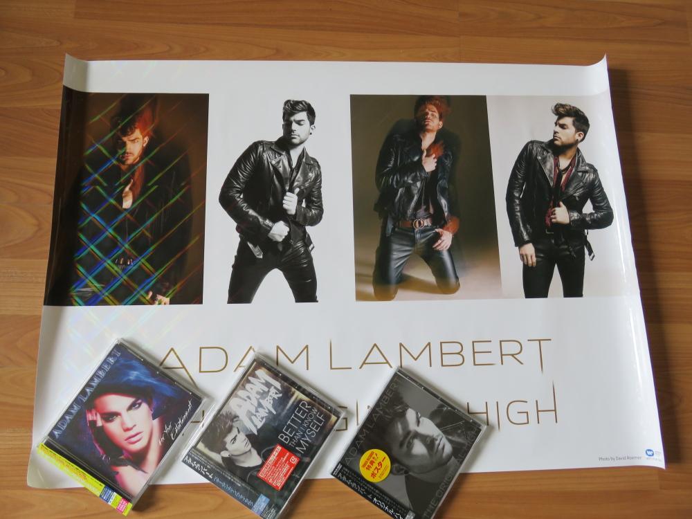 Adam Lambert Japanese editions アダム・ランバート 日本盤