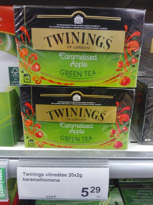 Green tea Vihreä tee 緑茶 フレーバー キャラメル りんご