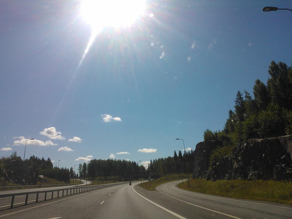 Maisema 車からの眺め フィンランド