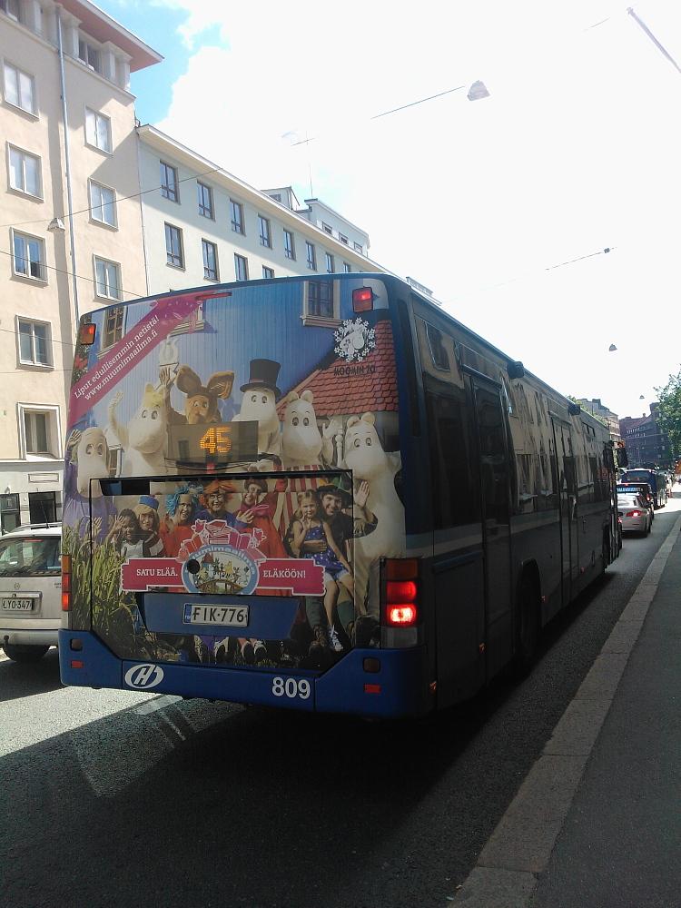 Bussi Muumimaailma mainos ムーミンワールド 広告