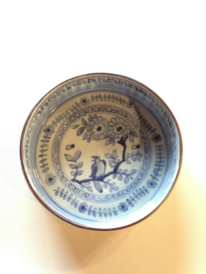 花鳥文銅鑼鉢