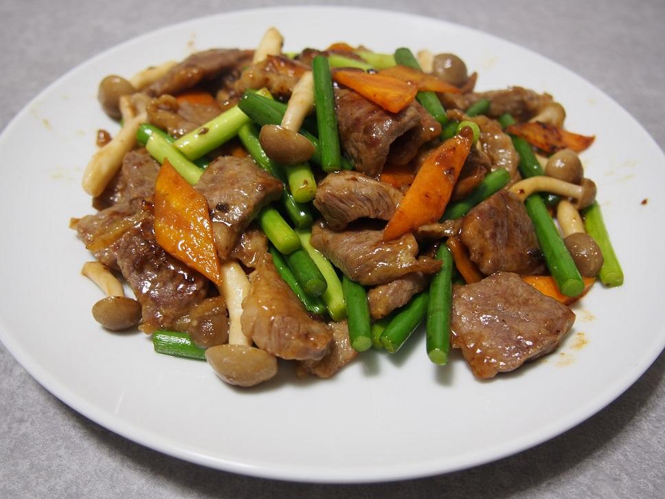 牛肉のオイスターソース炒め1-1