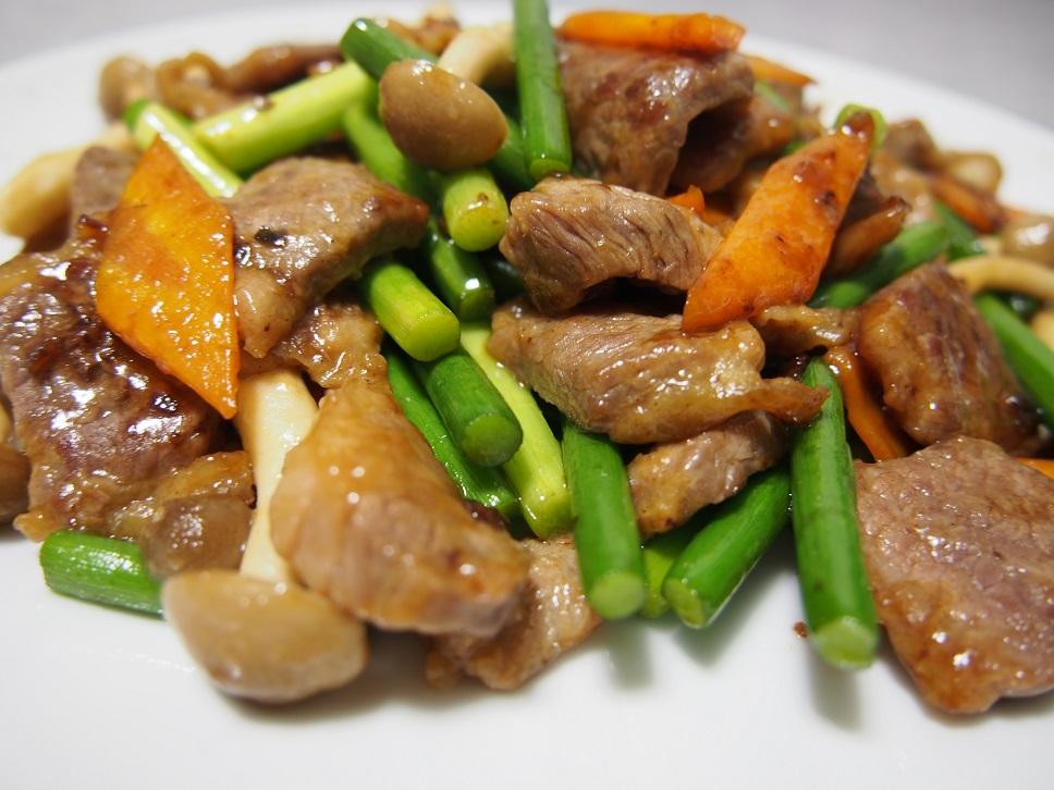 牛肉のオイスターソース炒め1-2