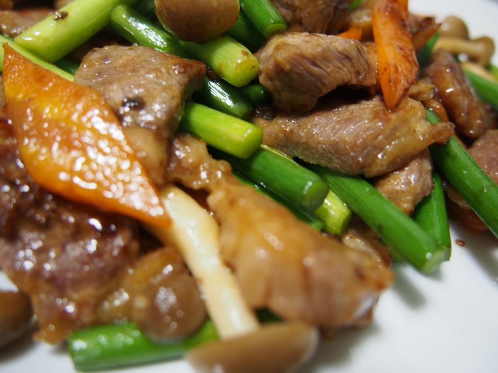 牛肉のオイスターソース炒め1-3