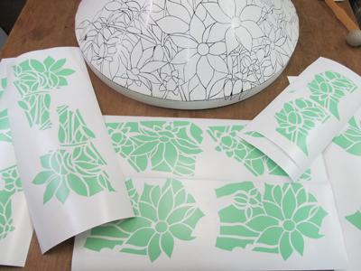 木立ダリア型紙4