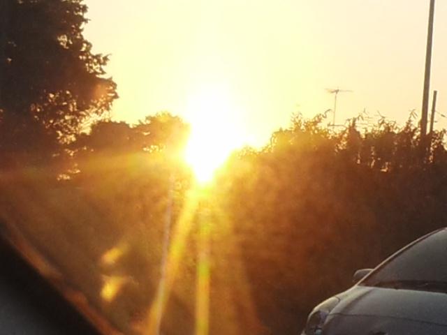 141231今年最後の夕陽
