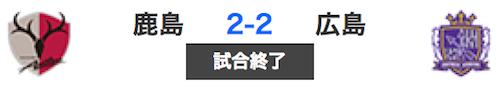 516鹿島2-2広島
