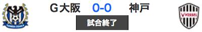 607ガンバ0-0神戸