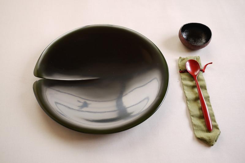 葉っぱカレー皿