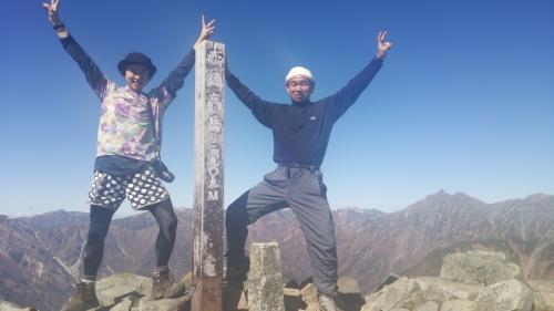 西穂高山頂秋(2)