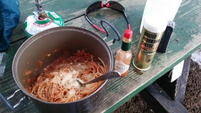 トマトソースパスタ(3)
