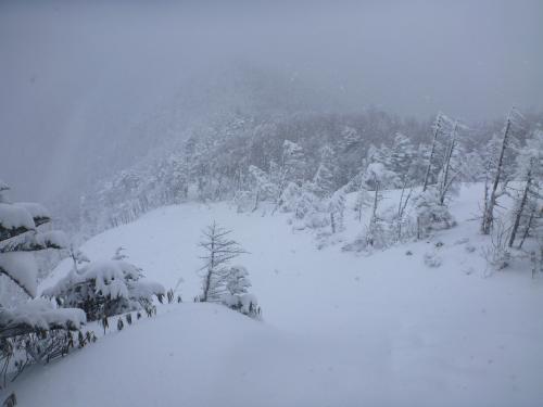 稜線の雪(2)