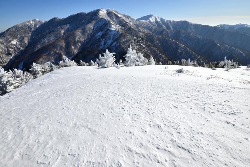 丸笹山頂から剣山・次郎笈  (徳島県)