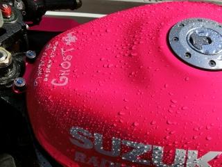 スーパーピンクちゃん 洗車