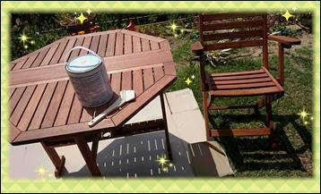 テーブルセット 塗装・・・とほほ
