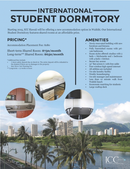 International Student Dormitory Flyer